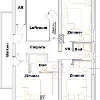 Top floor plan MH Landhaus Viehhofen