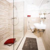 Modern bathrooms at MH Landhaus Viehhofen